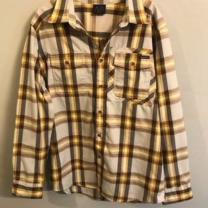 Oakley yellow flannel size medium